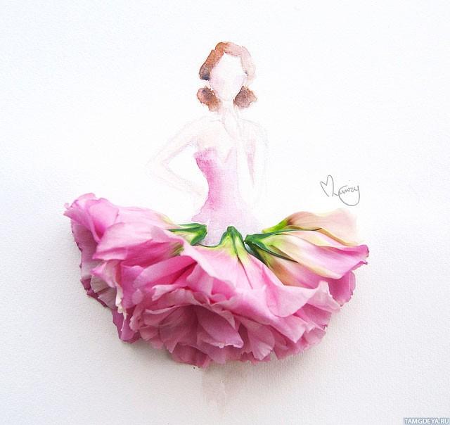 Картинки скачать девушка с цветами