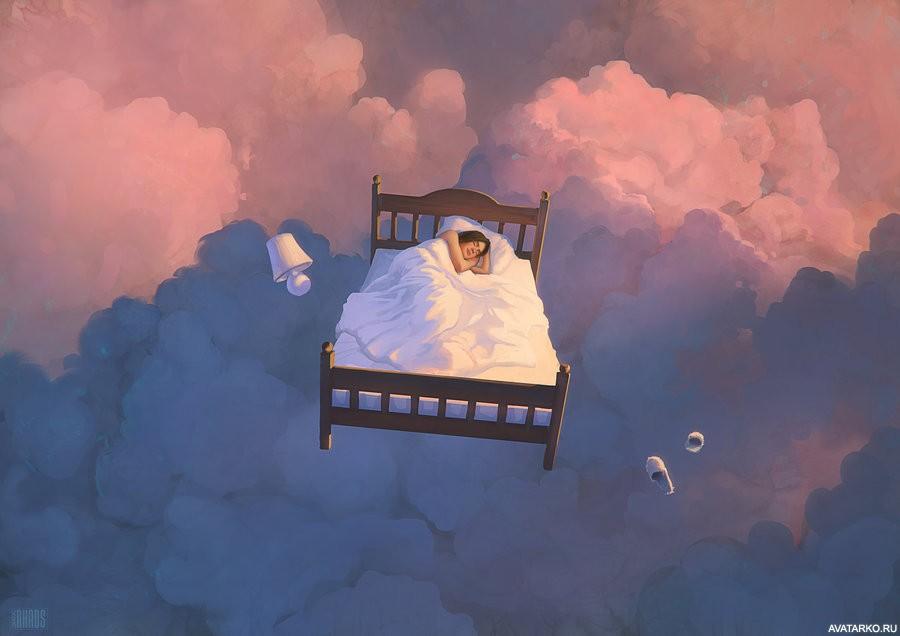 Видеть во сне картинки в небе