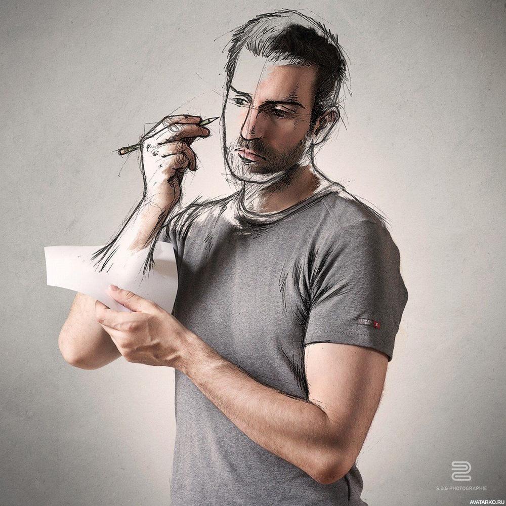 картина картинки на аву креативные для мужчин чтобы стать таким
