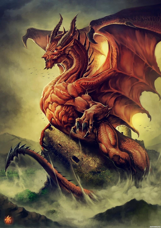 Картинки как живые на аву драконы