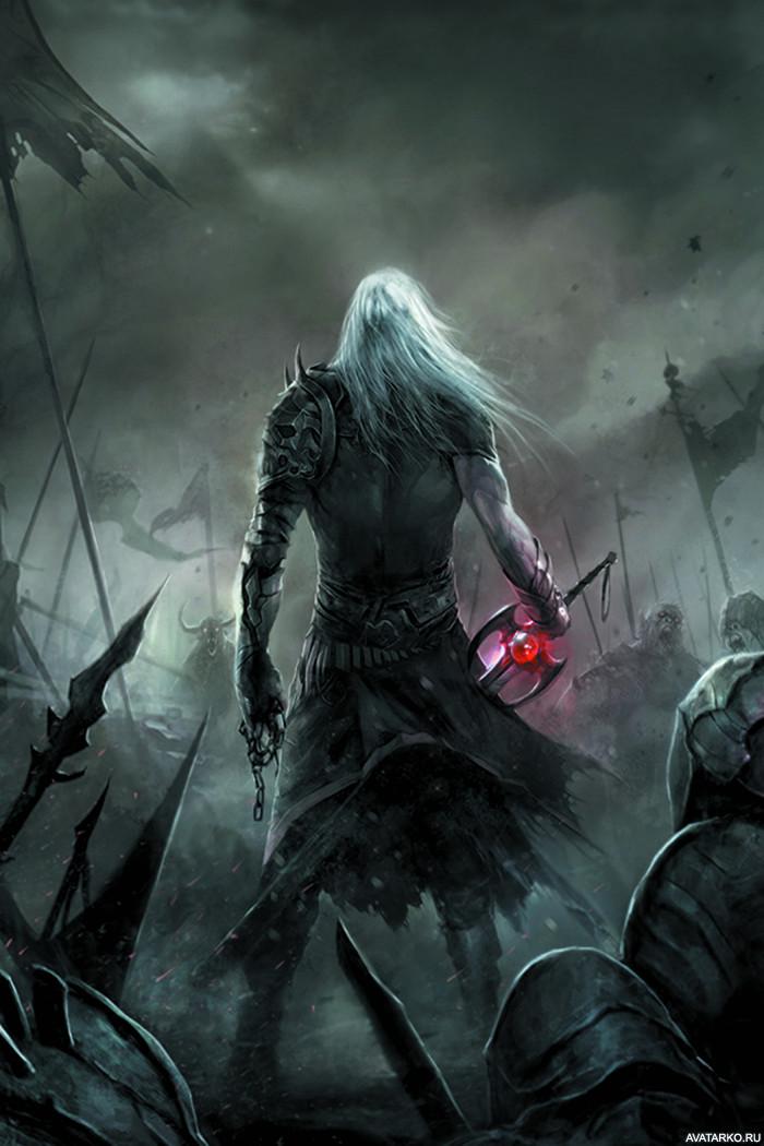 Воин со спины картинка
