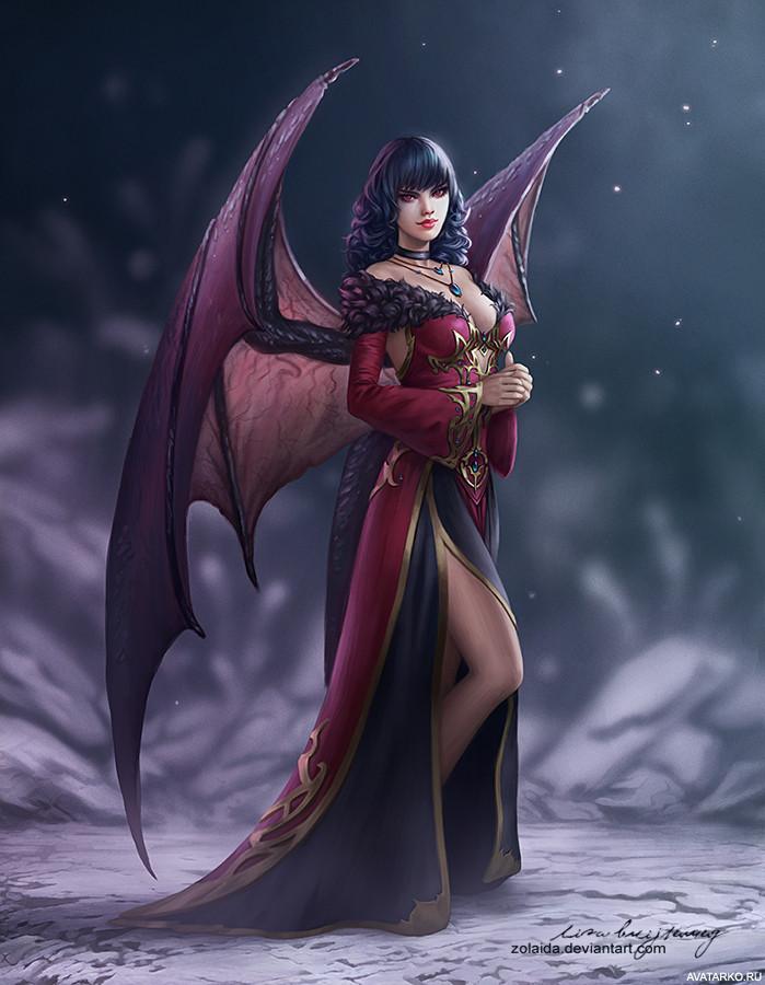 Картинки демонов девушек с крыльями красивые