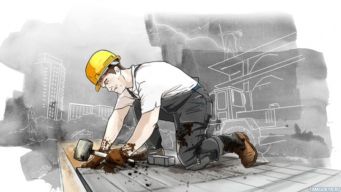 Аниме строитель картинки