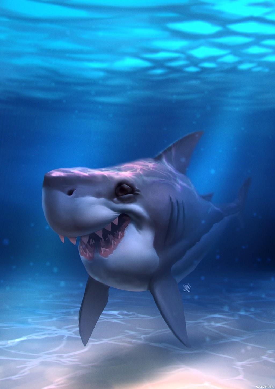 акула прикол картинка том