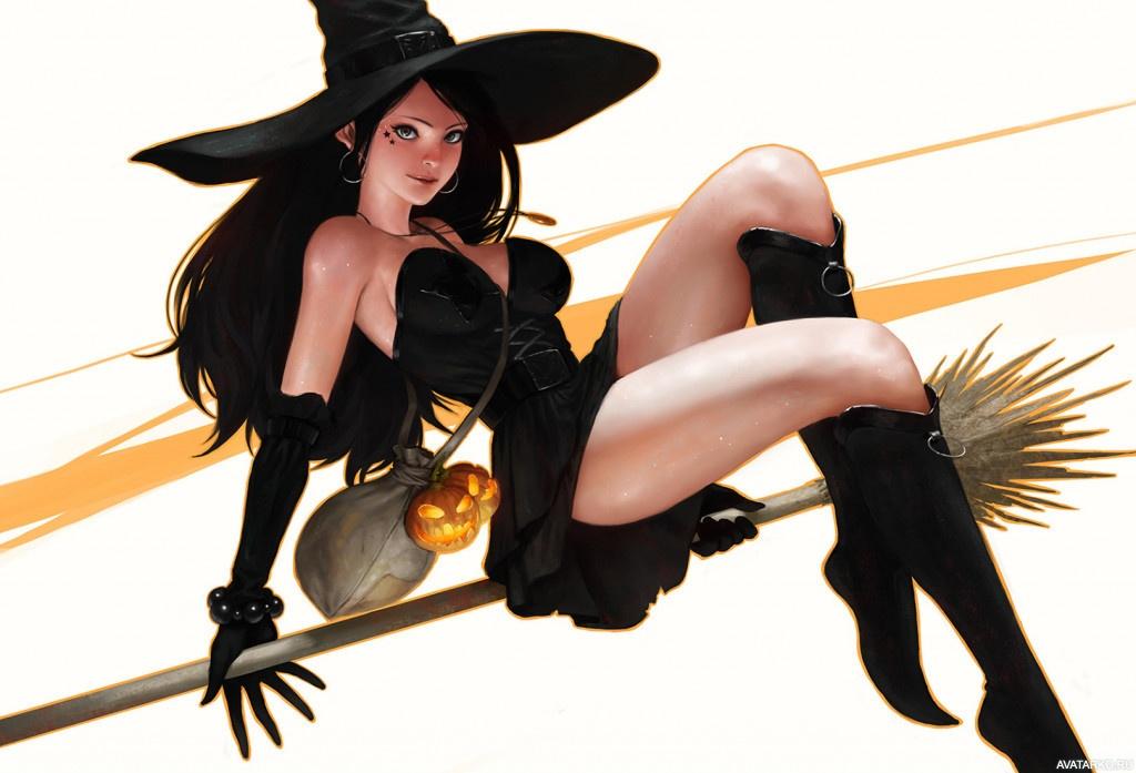Ведьма на метле картинки красивые, картинки анимация лучший