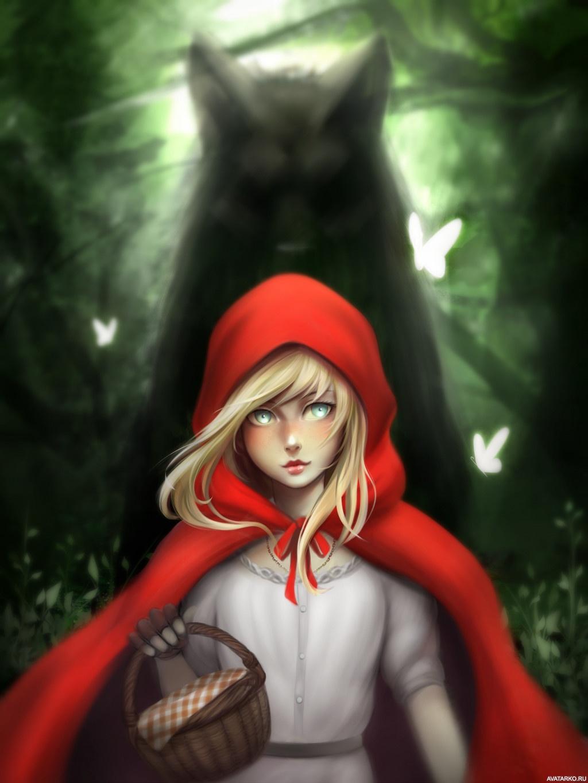Картинки красивая красная шапочка