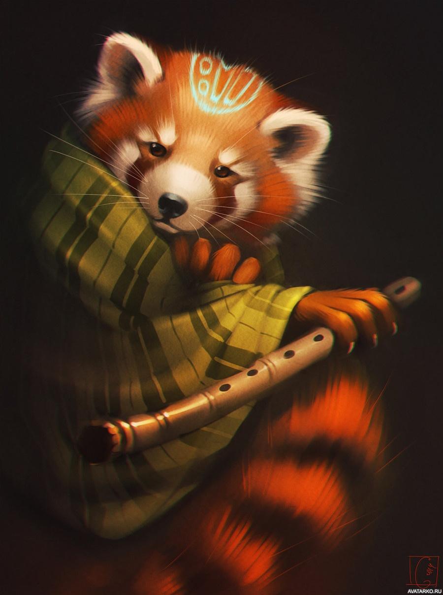 Картинки красная панда детские