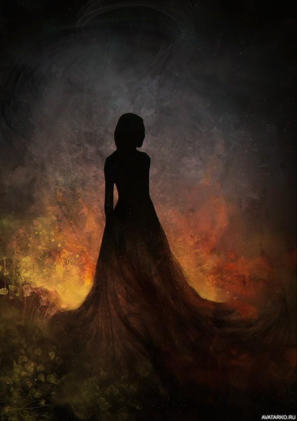 Фото аватарка в платье