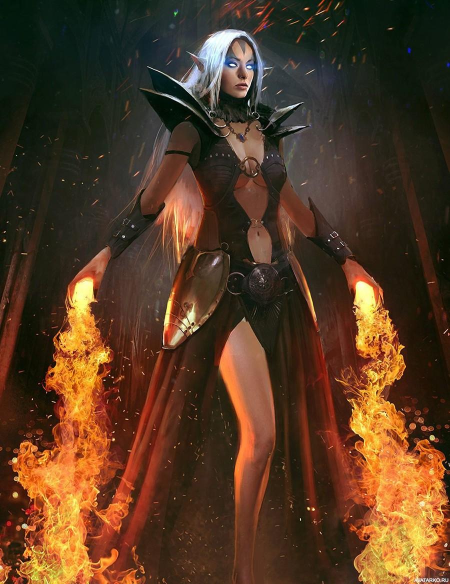 Эльф огненный картинки