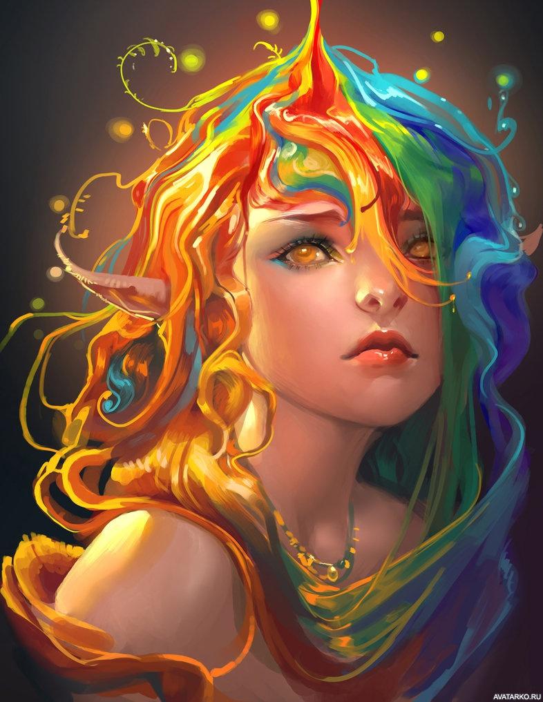 Цветные картинки на аватары