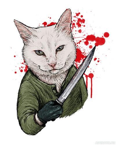 Фото на аву для девушек с ножами
