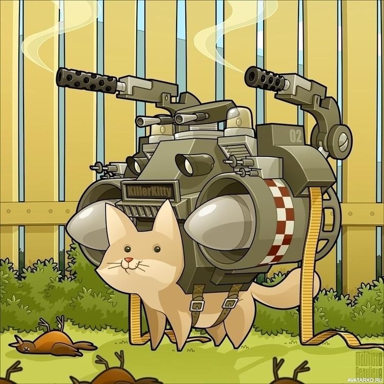 Кот с оружием картинки смешные