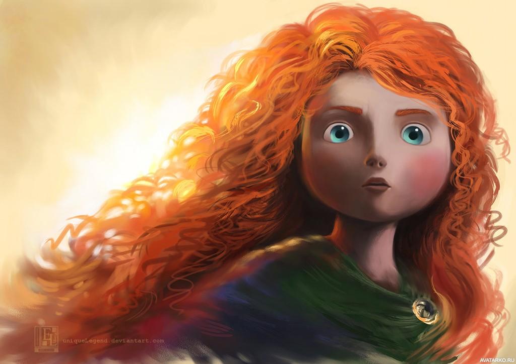 Гифки, картинка с рыжей девочкой из мультика