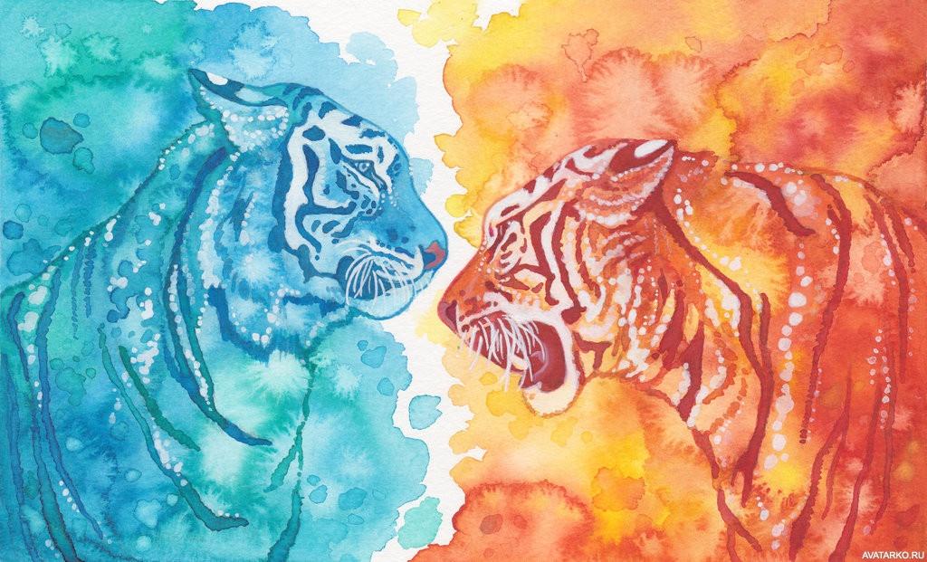 Картинки для рисования на тему огонь и вода