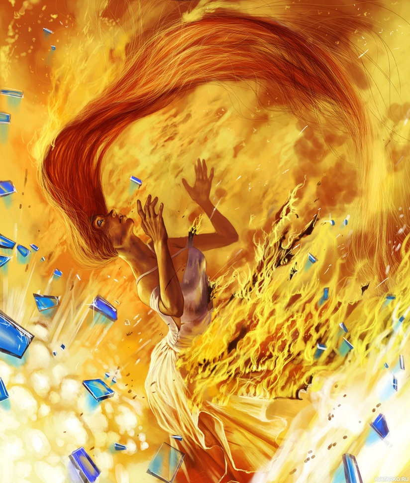 помню картинки горящих волос ночи