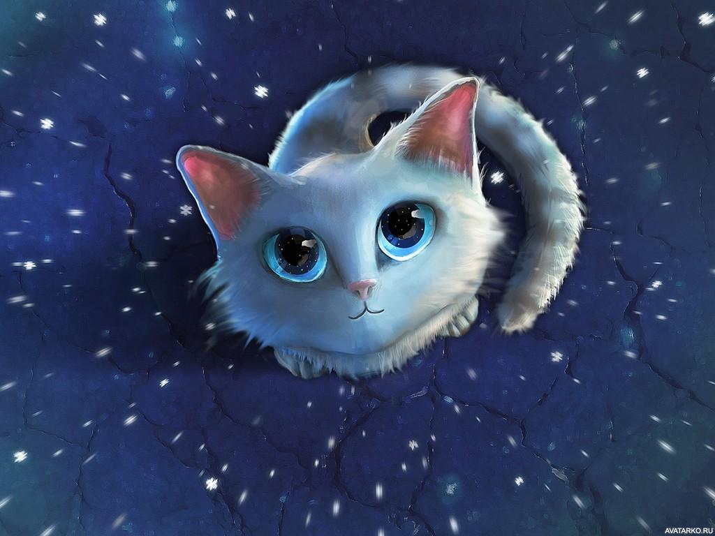 сейчас картинки милые котики мультяшные способов рисования